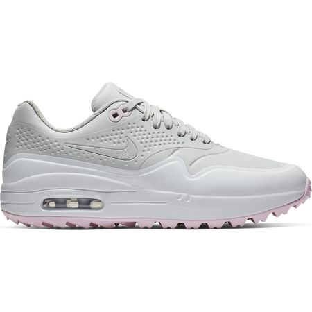 Shoes Air Max 1G Women's Golf Shoe - White/Grey Nike Golf Picture