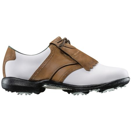 Shoes FootJoy DryJoys Women's Golf Shoe - White/Brown FootJoy Picture