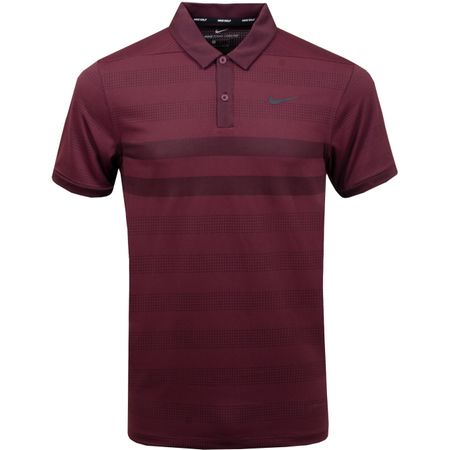 Polo Zonal Cooling Stripe Polo Burgundy Crush/Black - 2018 Nike Golf Picture