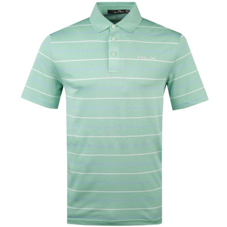 Golf undefined Striped Tech Pique Celadon/Austin Blue - AW18 made by Polo Ralph Lauren