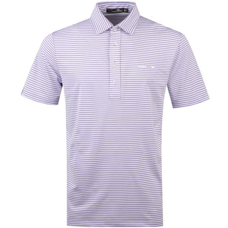 Polo Feed Stripe Airflow Jersey English Purple Heather - AW18 Polo Ralph Lauren Picture