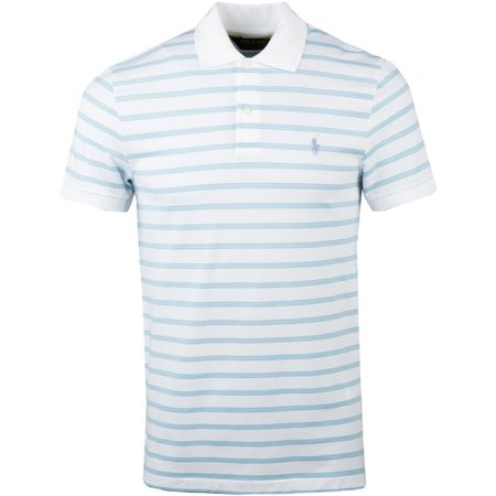 Golf undefined Performance Pique Stripe White/Austin Blue - AW18 made by Polo Ralph Lauren