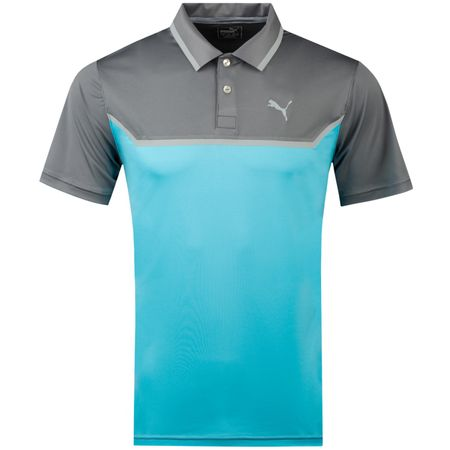Golf undefined Bonded Tech Polo Quiet Shade/Blue Atoll - AW18 made by Puma Golf