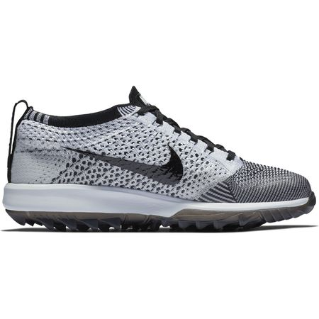 Shoes Nike Flyknit Racer G Women's Golf Shoe - Black/White Nike Golf Picture