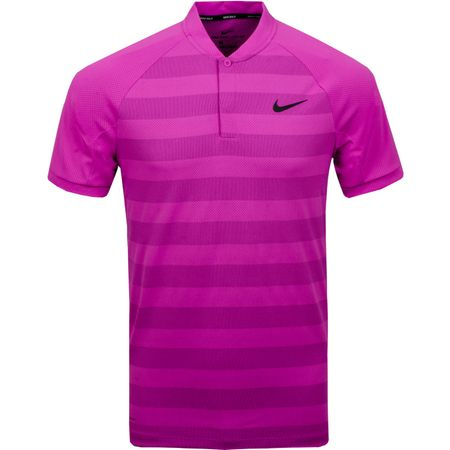 Golf undefined Dry Momentum Stripe Zonal Cooling Polo Hyper Magenta made by Nike Golf