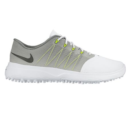 Golf undefined Nike Lunar Empress 2 Women's Golf Shoe - White/Grey made by Nike