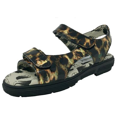 Golf undefined Two Strap Women's Sandal - Leopard made by Golfstream