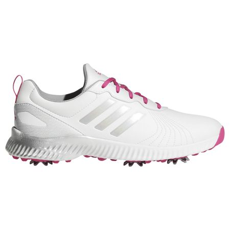 Shoes Response Bounce Women's Golf Shoe - White/Pink Adidas Golf Picture