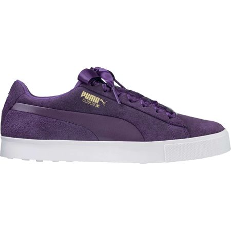Shoes PUMA Suede G Women's Golf Shoe - Purple Puma Golf Picture