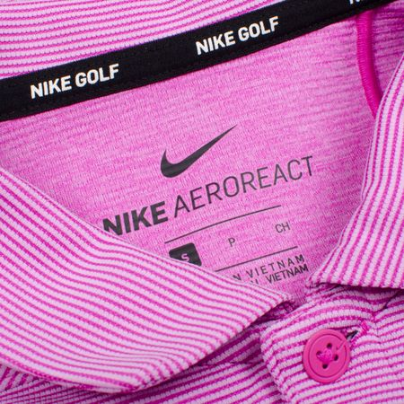 Golf undefined AeroReact Victory Polo Hyper Magenta/Black made by Nike Golf