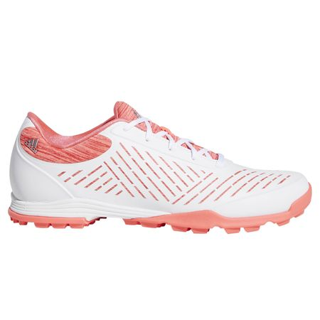 Golf undefined Adipure Sport 2.0 Women's Golf Shoe - White/Pink made by Adidas Golf