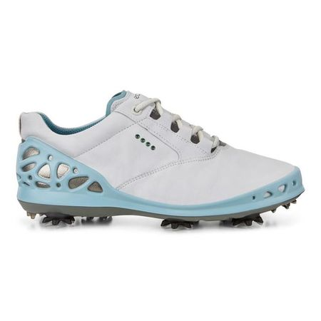Golf undefined ECCO Cage GTX Women's Golf Shoe - White/Blue made by ECCO