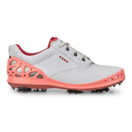 Golf undefined ECCO Cage GTX Women's Golf Shoe - White/Pink made by ECCO
