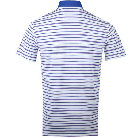 Golf undefined Tech Pique Stripe Polo Pure White/Summer Royal/New Hibiscus - SS18 made by Polo Ralph Lauren