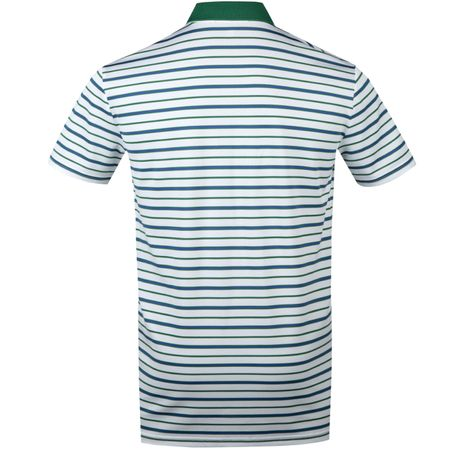 Golf undefined Tech Pique Stripe Polo Pure White/Bush Green/Summer Royal - SS18 made by Polo Ralph Lauren