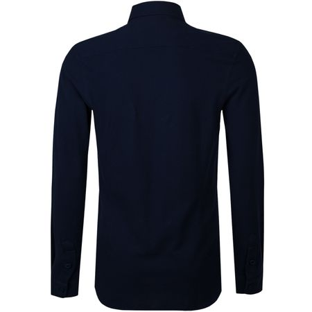 Polo Morton LS Pique Polo Navy Orlebar Brown Picture