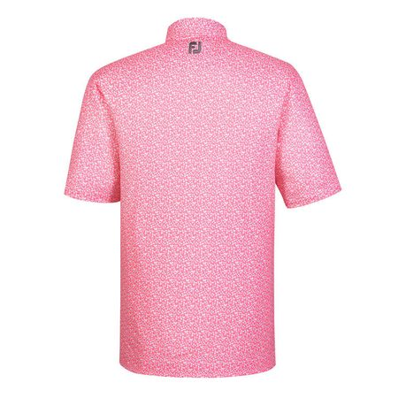 Golf undefined Lisle Floral Print Self Collar Polo made by FootJoy