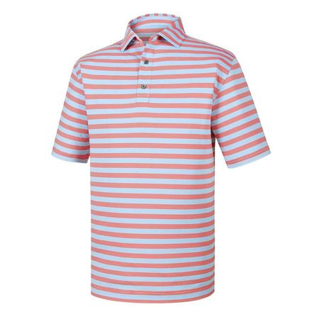 Golf undefined Athletic Fit End On End Multi Stripe Self Collar Polo made by FootJoy