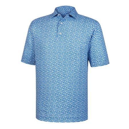 Shirt Lisle Floral Print Self Collar Polo FootJoy Picture
