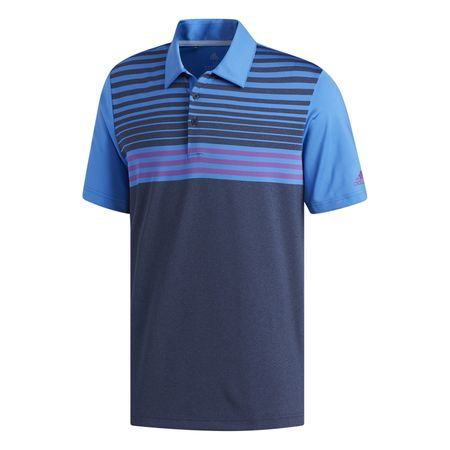 Golf undefined Ultimate365 3-Stripes Heathered Polo Shirt made by Adidas Golf