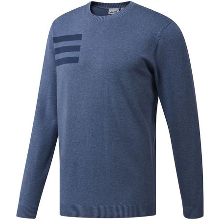Golf undefined Adidas 3-Stripes Crewneck Sweater made by Adidas Golf