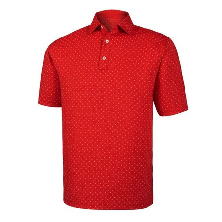 Golf undefined Diamond Print Lisle Self Collar Polo made by FootJoy