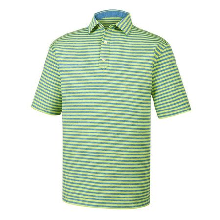 Golf undefined Heather Lisle Stripe Self Collar Polo made by FootJoy