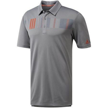 Golf undefined Adidas Chest Print Three L Polo made by Adidas Golf