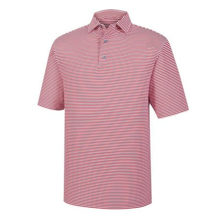 Golf undefined Lisle Feeder Stripe Self Collar Polo made by FootJoy