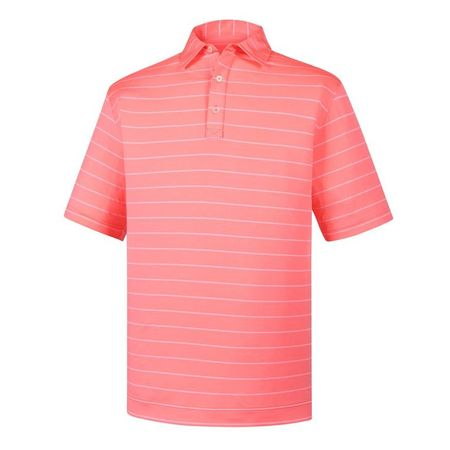 Shirt Lisle Double Pin Stripe Self Collar Polo FootJoy Picture