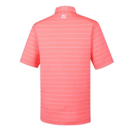 Golf undefined Lisle Double Pin Stripe Self Collar Polo made by FootJoy