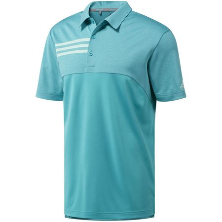 Shirt Adidas 3-Stripe Heather Blocked Polo Adidas Golf Picture