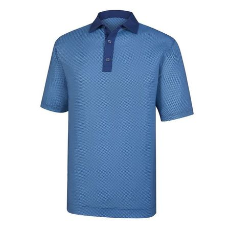 Golf undefined Lisle Basketweave Print Self Collar Polo made by FootJoy