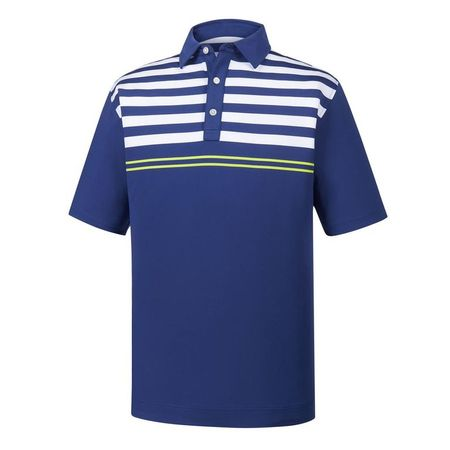 Golf undefined Lisle Engineered Chest Stripes Self Collar Polo made by FootJoy