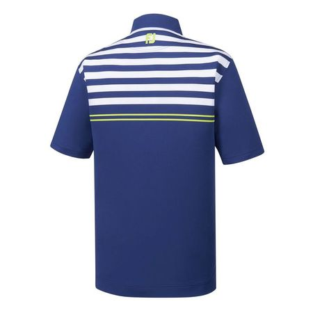 Shirt Lisle Engineered Chest Stripes Self Collar Polo FootJoy Picture