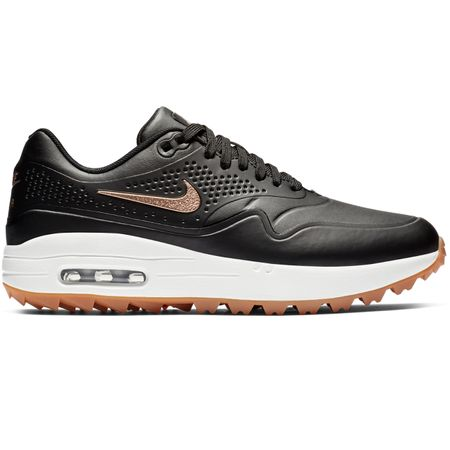 Shoes Womens Air Max 1G Black/Metallic Red Bronze - SS19 Nike Golf Picture