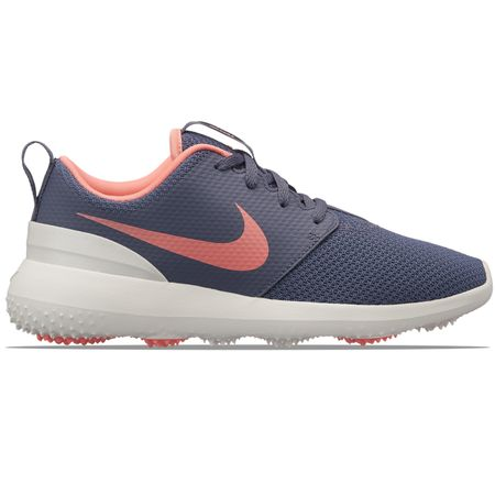 Shoes Womens Roshe Run Light Carbon/Atomic Pink Nike Golf Picture
