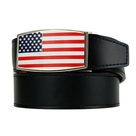 Golf undefined Nexbelt Heritage Aston USA Dress Belt - Black made by Nexbelt