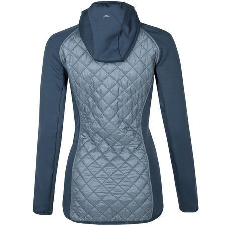 Golf undefined Womens Atna Hybrid Hood Grey Melange made by J.Lindeberg