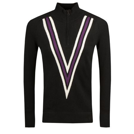 Golf undefined Womens Double V Quarter Zip Onyx - AW18 made by G/FORE