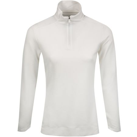 Golf undefined Womens Dry UV Quarter Zip Mid White - SS19 made by Nike