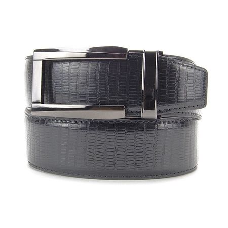 Golf undefined Nexbelt Reptile Lizard Dress Belt - Black made by Nexbelt