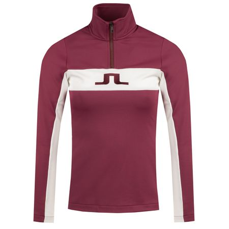 Golf undefined Womens Kimball Striped Mid Jacket Fieldsensor Dark Mahogany - 2019 made by J.Lindeberg