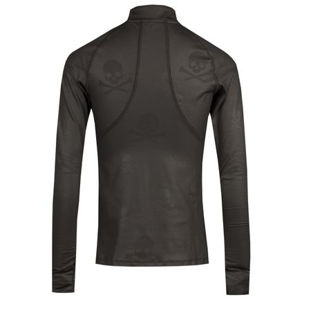 Golf undefined Womens Camo Skulls Quarter Zip Onyx - AW18 made by G/FORE