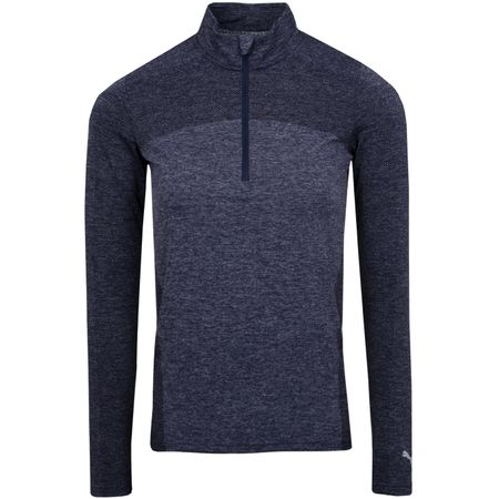 Golf undefined Womens Evoknit Seamless Quarter Zip Peacoat - 2018 made by Puma Golf