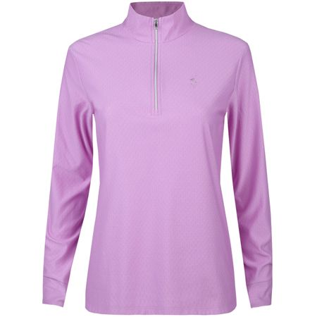 Golf undefined Womens Diamond Jacquard 1/2 Zip Rose Mist - AW17 made by Polo Ralph Lauren