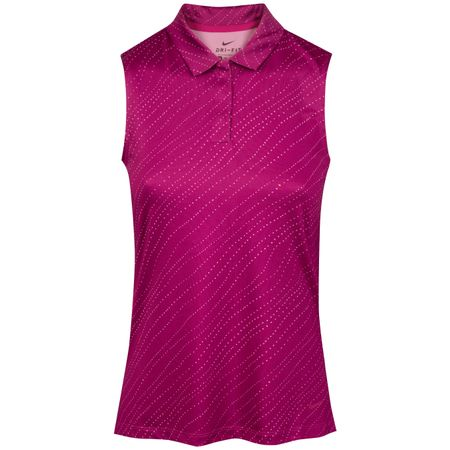 Golf undefined Womens Dry Sleeveless Floral Polo True Berry - SS19 made by Nike