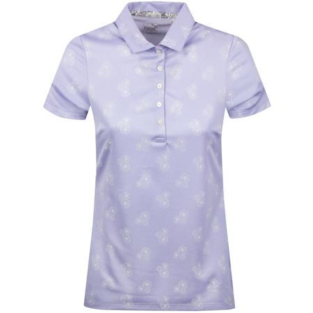 Golf undefined Womens Burst Into Bloom Polo Sweet Lavender - SS19 made by Puma Golf