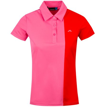 Golf undefined Womens Peka TX Jersey Pop Pink - SS19 made by J.Lindeberg