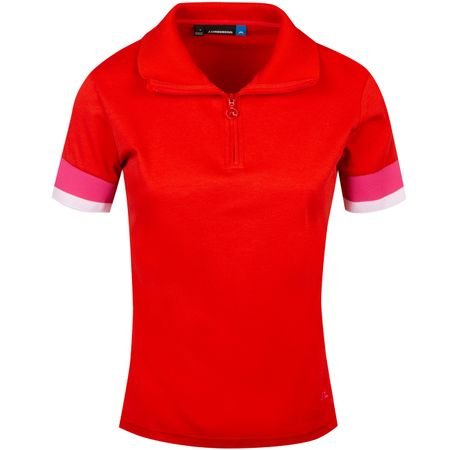 Polo Womens Bella Cotton Poly Deep Red - SS19 J.Lindeberg Picture